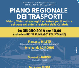 Proposta Preliminare Piano Regionale dei Trasporti