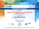 Riconoscimento all'ITS Pegasus per la presentazione del progetto Smart Drone al Dronitaly 2018